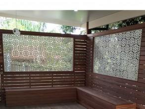 floral geo laser cut screen