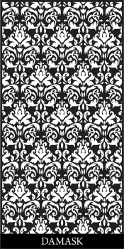 LASER CUT DAMASK PATTERN