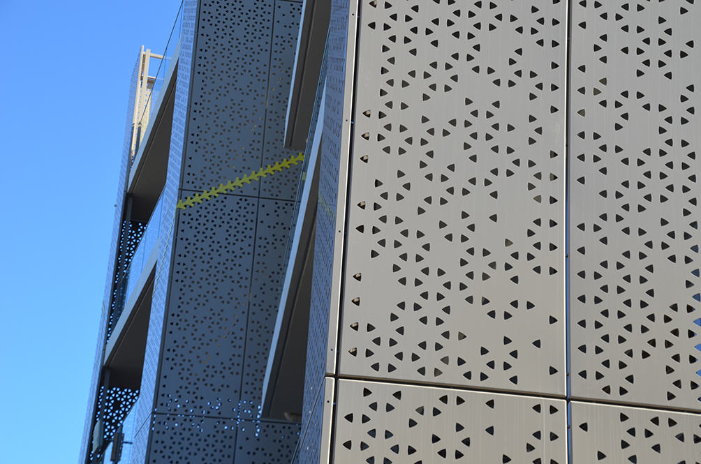 Powder Coated Laser cut privacy screen for apartment Sydney