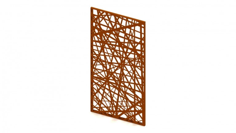 DSD Double Fold Corten Screens