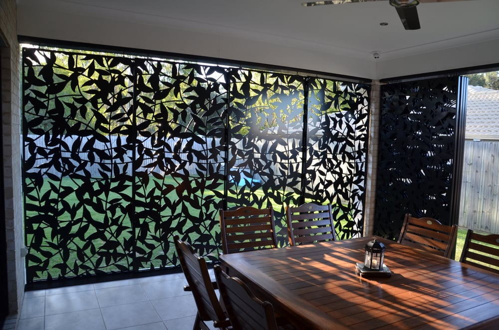 Leaf Vines Patio Privacy Screen Laser Cut