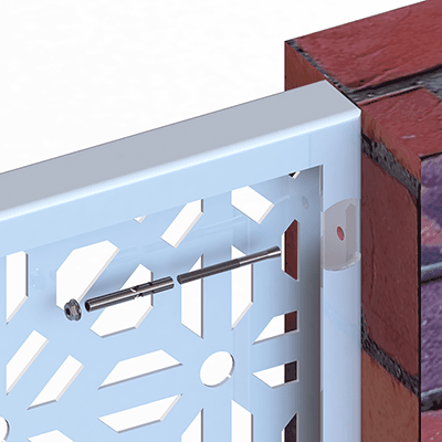 DSD Fix Double Folded Edge into masonry, if you have a brick or concrete structure you simply fasten with masonry (Dynabolts) using the pre-cut holes in the frame