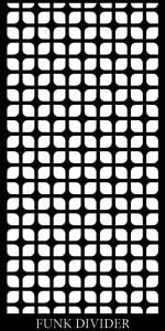 Funk Divider CNC Laser Cut Screen