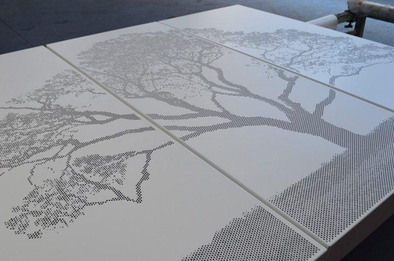 Jacaranda Tree Image Perf Screens