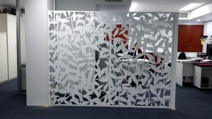 Leaf Vines Laser Cut Room Divider