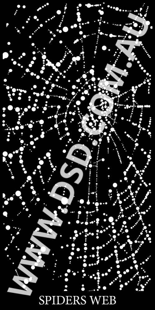 Spider Web Droplets Corten Laser Cut Screens