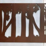 Custom Council Corten Screens