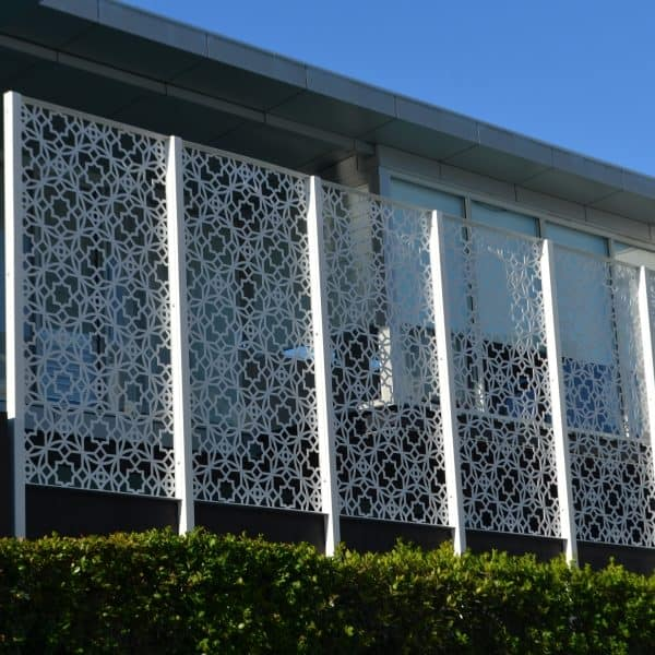 Commercial laser cut decorative screen projects for Privacy pool screen