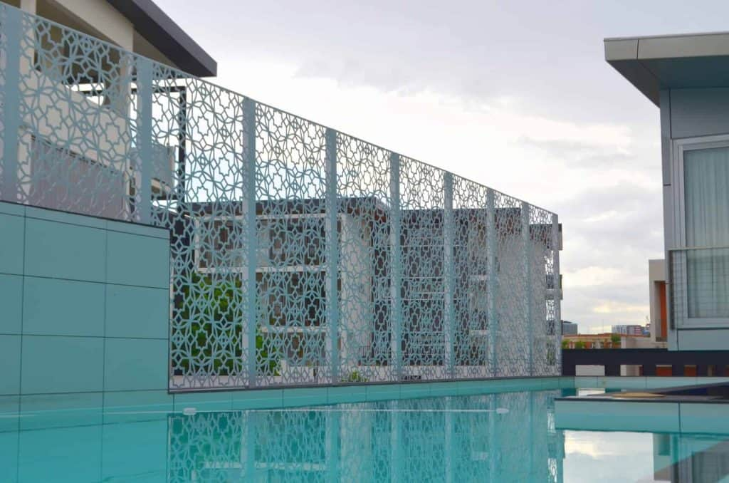 Pool safe pool fencing decorative screens direct for Garden state pool scene quote
