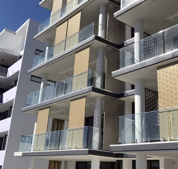 Waterfront Apartments: Commercial Laser Cut Decorative Screen Projects