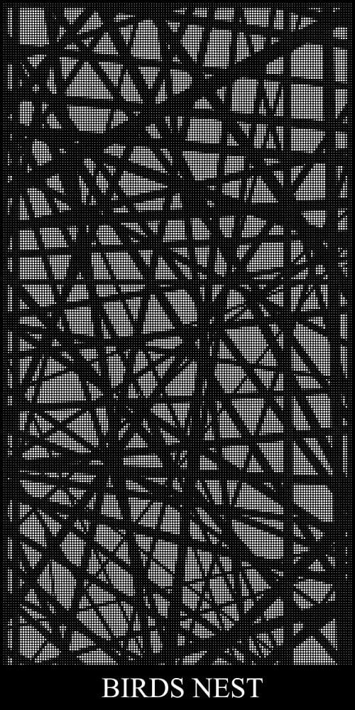 Birds Nest Laser Cut Screen
