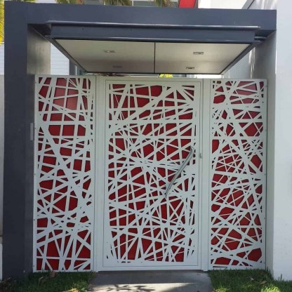 Birds Nest Laser Cut Security Door