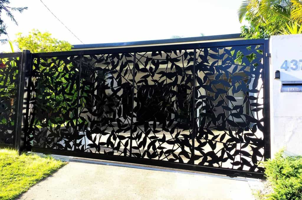 decorative entry gate & driveway gates