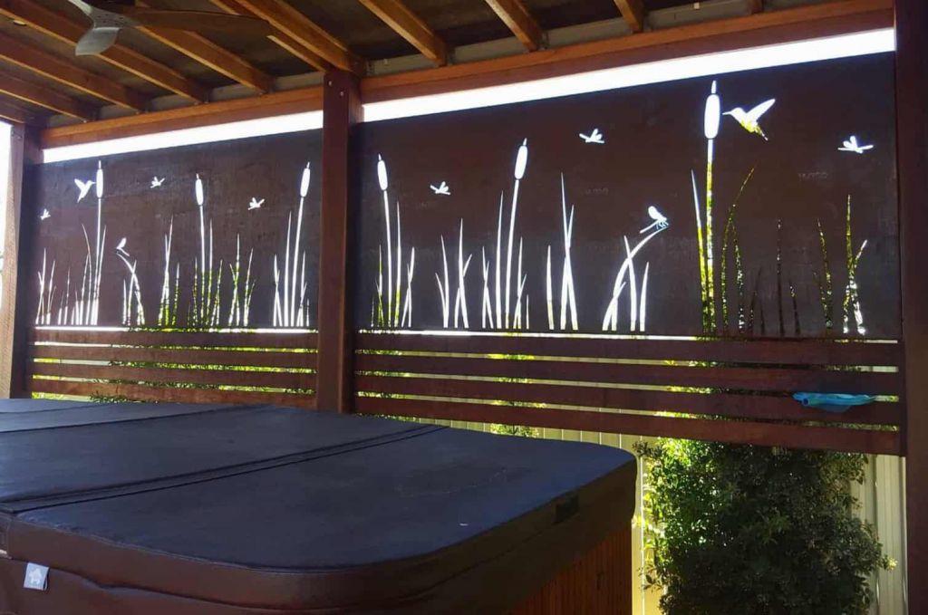 Water Reeds Pergola Screens