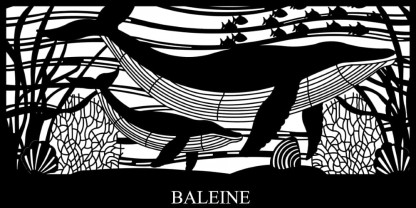 Baleine Custom Made Whale Decorative Screen