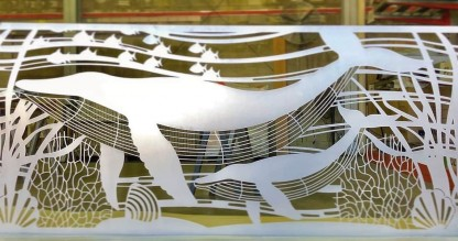 Baleine Laser Cut Decorative Wall Art