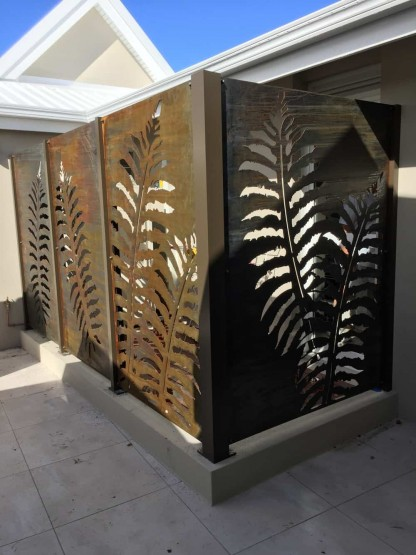 Corten Licorice Fern Privacy Screen 2