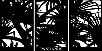 Pandanus Screen Scape Decorative Screen
