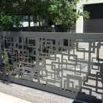 Square Rage Decorative Driveway Gate