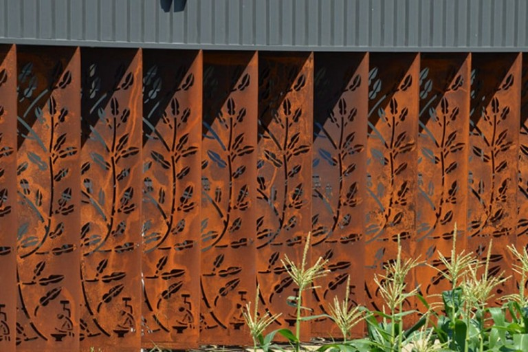 Corten Steel Decorative Screens 11