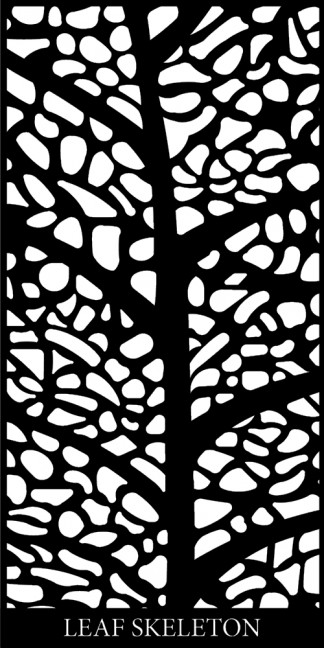 Leaf Skeleton Decorative Screen Design Image